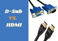 D-Sub vs HDMI